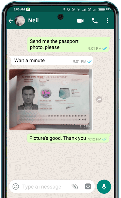 whatsapp example page